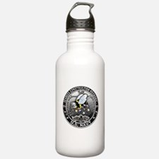 USN Seabees Construction Mech Water Bottle