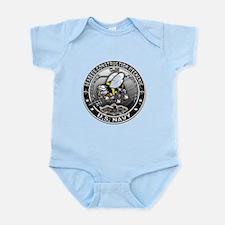 USN Seabees Construction Mech Infant Bodysuit