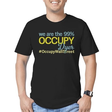 Occupy Dyer Men's Fitted T-Shirt (dark)