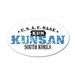 Kunsan Air Force Base 38.5 x 24.5 Oval Wall Peel
