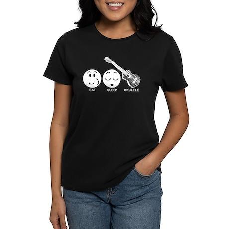 Eat Sleep Ukulele Women's Dark T-Shirt