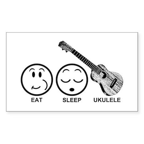 Eat Sleep Ukulele Sticker (Rectangle)