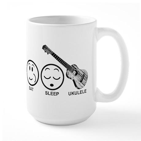 Eat Sleep Ukulele Large Mug