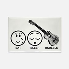 Eat Sleep Ukulele Rectangle Magnet