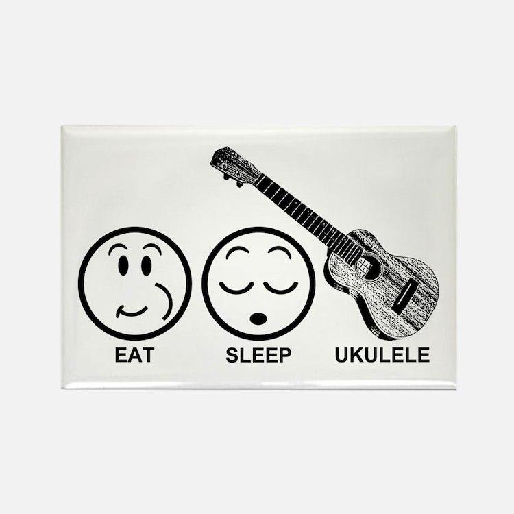 Eat Sleep Ukulele Rectangle Magnet