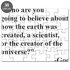 Scientist Vs God Puzzle