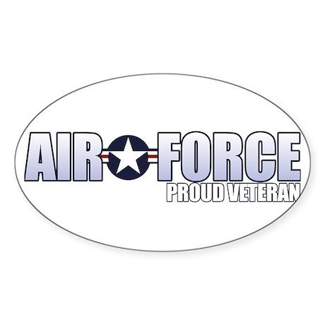 USAF Veteran Sticker (Oval)