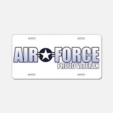 USAF Veteran Aluminum License Plate