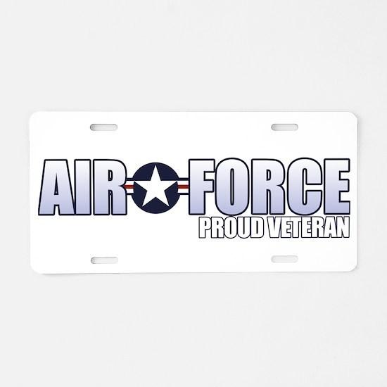 USAF Veteran Aluminum License Plate