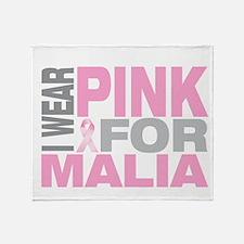I wear pink for Malia Throw Blanket