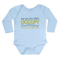 Occupy Desert Hot Springs Long Sleeve Infant Bodys