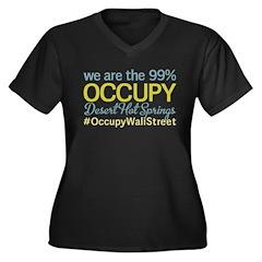 Occupy Desert Hot Springs Women's Plus Size V-Neck