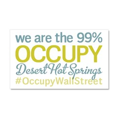 Occupy Desert Hot Springs Car Magnet 20 x 12