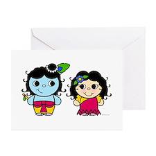 Lil' Radha & Krishna Greeting Cards (Pk of 10)