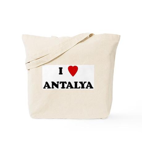 I Love Antalya Tote Bag