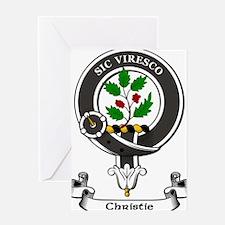 Badge-Christie Greeting Card
