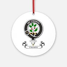 Badge-Christie Round Ornament