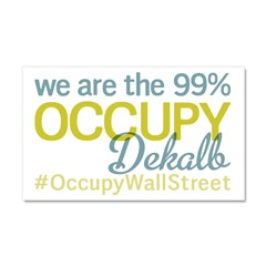 Occupy Dekalb Car Magnet 20 x 12