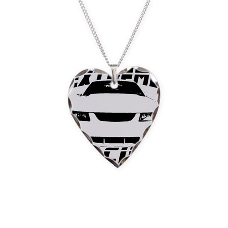 Racing Mustang 99 2004 Necklace Heart Charm