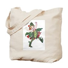 Holly Berry Elf Tote Bag