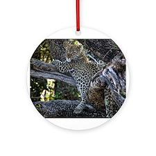 Leopard Cub Ornament (Round)