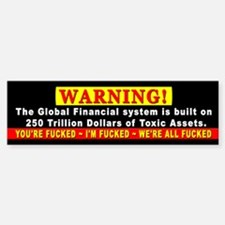 Occupy Wall Street and End th Bumper Bumper Sticker