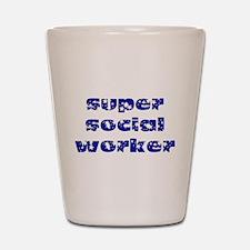 super social worker (Navy) Shot Glass