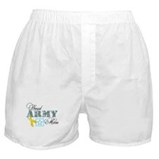 Proud Army Mom w/Ribbon Boxer Shorts