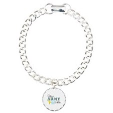 Proud Army Mom w/Ribbon Charm Bracelet, One Charm
