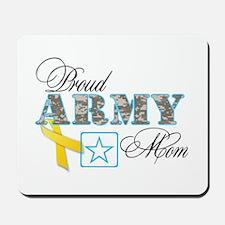 Proud Army Mom w/Ribbon Mousepad