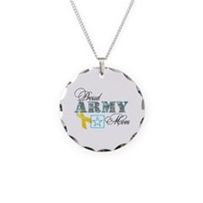 Proud Army Mom w/Ribbon Necklace