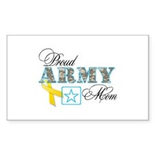 Proud Army Mom w/Ribbon Decal