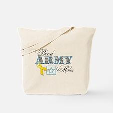 Proud Army Mom w/Ribbon Tote Bag