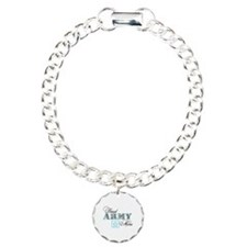 Proud Army Mom Charm Bracelet, One Charm