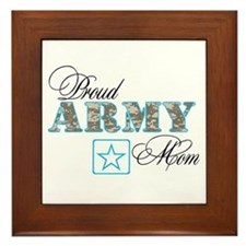 Proud Army Mom Framed Tile