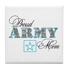 Proud Army Mom Tile Coaster