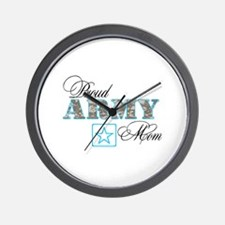 Proud Army Mom Wall Clock