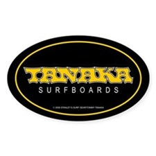 Tanaka Surfboards Oval Bumper Stickers
