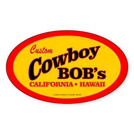 Cowboy Bob's Oval Sticker