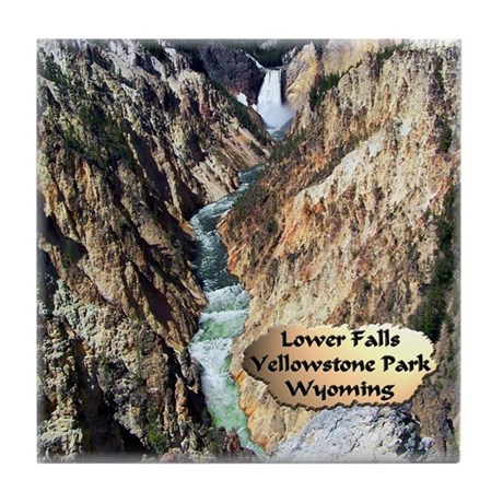 Lower Falls,Yellowstone Park 2 Tile Coaster