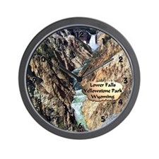 Lower Falls,Yellowstone Park 2 Wall Clock