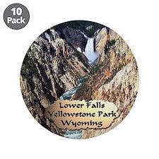 "Lower Falls,Yellowstone Park 2 3.5"" Button (1"