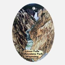 Lower Falls,Yellowstone Park 2 Ornament (Oval)
