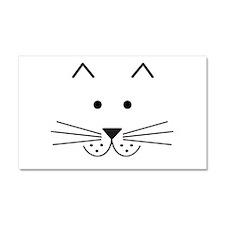 Cartoon Cat Face Car Magnet 20 x 12