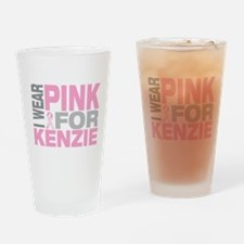 I wear pink for Kenzie Drinking Glass