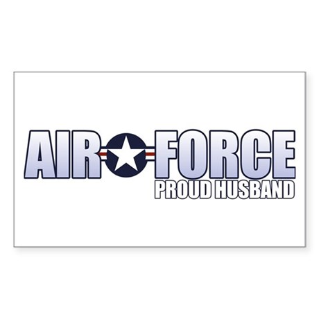 USAF Husband Sticker (Rectangle)