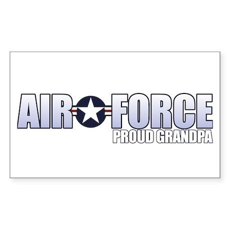 USAF Grandpa Sticker (Rectangle)