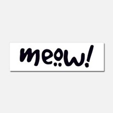 Meow! Cat-Themed Car Magnet 10 x 3