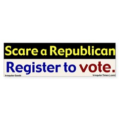 Scare a Republican - Vote Bumper Bumper Sticker