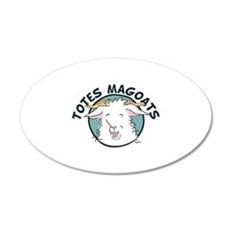 Totes MaGoats 20x12 Oval Wall Decal